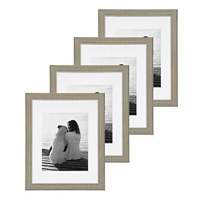 kieva solid wood picture framess distressed gray