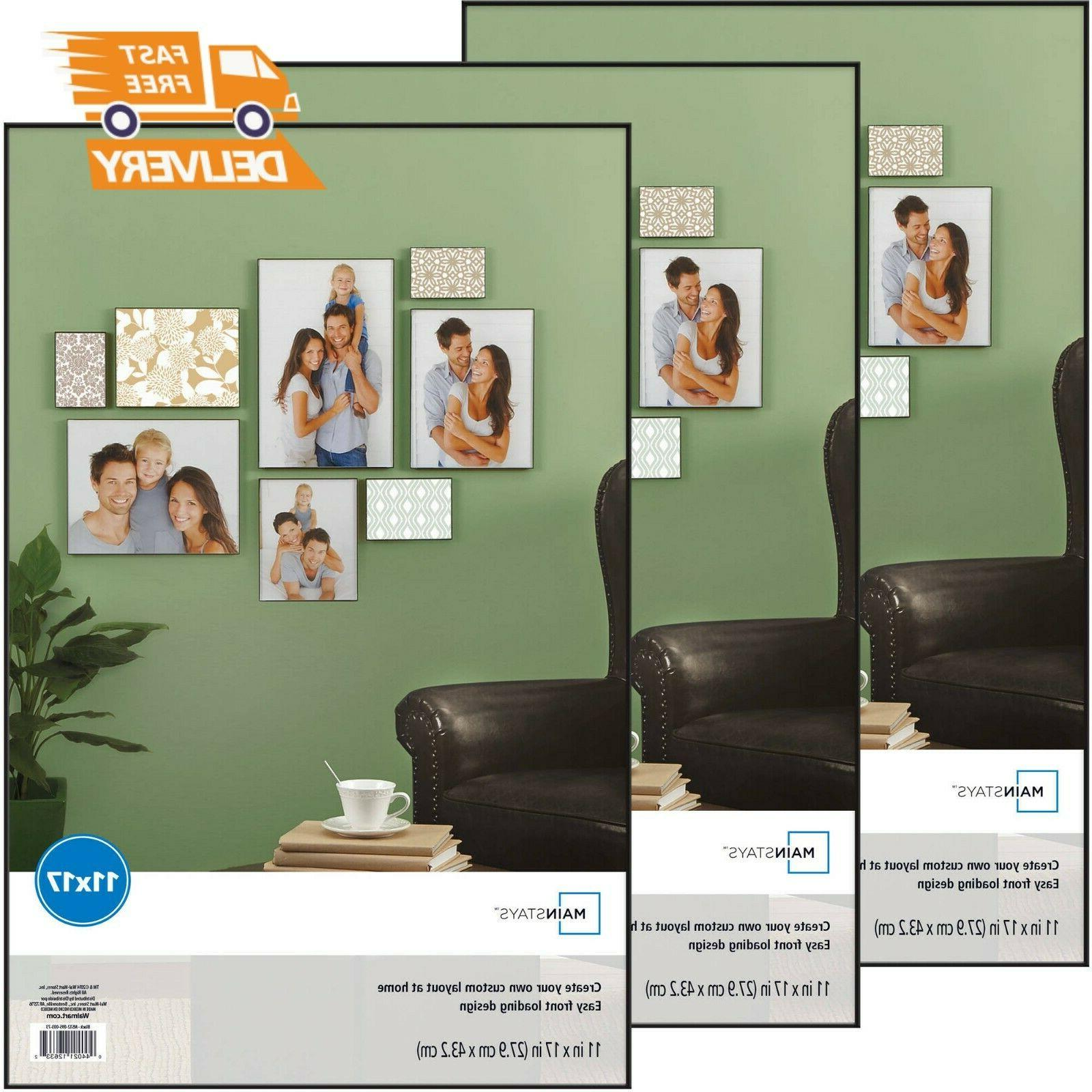 mainstays 11x17 format picture poster frame set