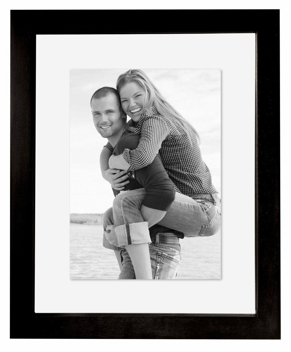 MCS 11x14 Wood Floating Picture Frame Black