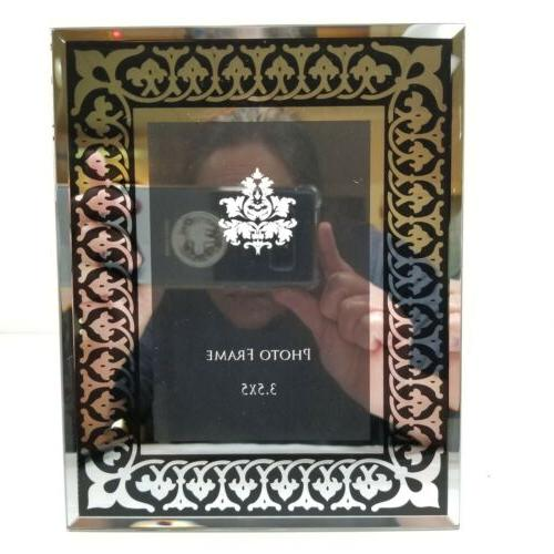 Mirrored Frames Black Silver Gold