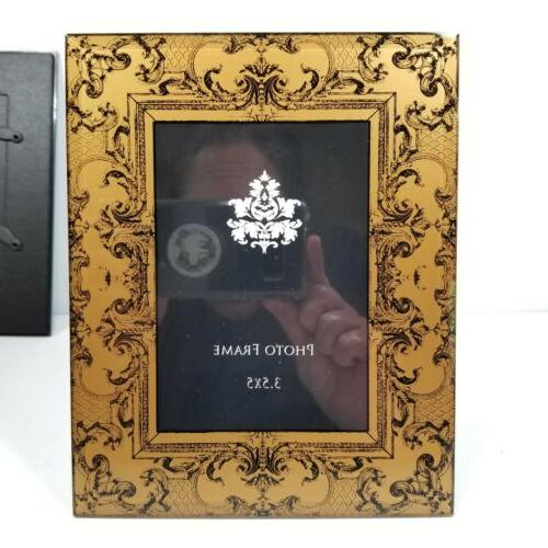 Mirrored Beveled Glass Frames Silver Hollywood