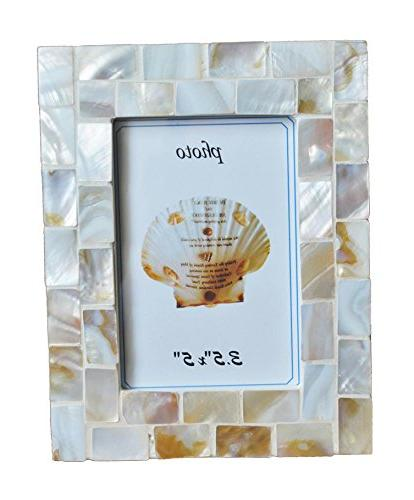 mother pearl mosaic photo frames