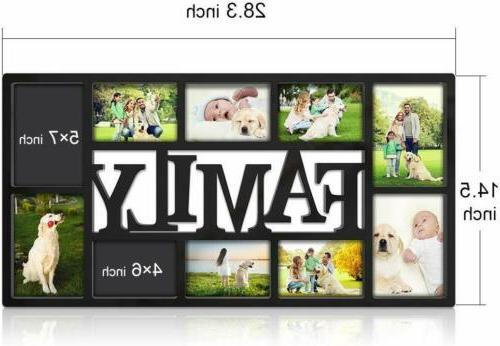 Family Picture Frame Wall 10 Four 5X7 4X6