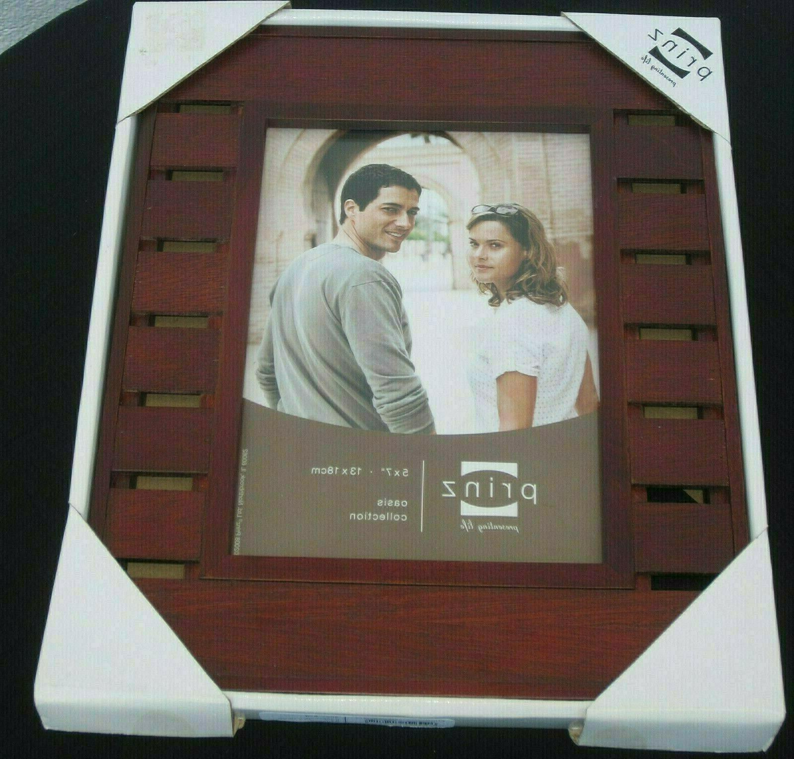 oasis edgewood 5x7 redwood picture frame