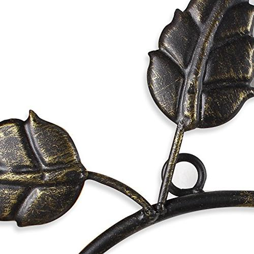 Adeco Brown Black Decorative Iron Metal Wall Hanging Picture