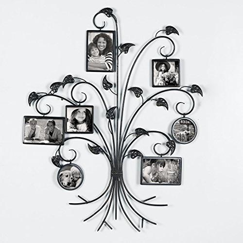 """Adeco PF0591 Brown Decorative 7-Opening Collage Bronze Iron Metal Hanging Picture 4x4"""",As Picture"""