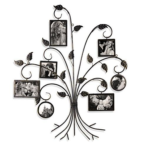 """Adeco PF0591 Brown Decorative Iron Metal Picture Frame, 4x6"""" 4x4"""",As Picture"""