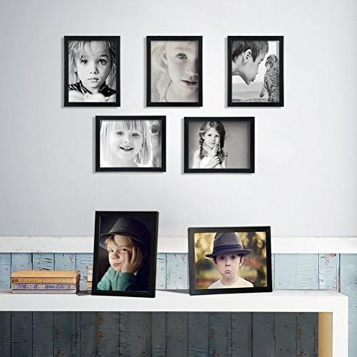 Giftgarden 8x10 Picture Frame Multi Wall or Tabletop Black, 7 Pack
