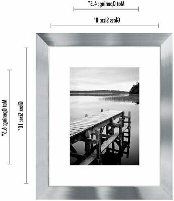 Americanflat Picture Frame Silver Wood for Tabletop