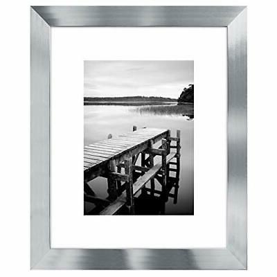 picture frame silver wood for wall