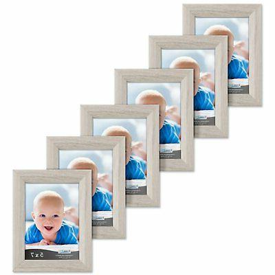 Icona Bay 5x7 Picture Frames Set of 6 , Picture Frame Set fo