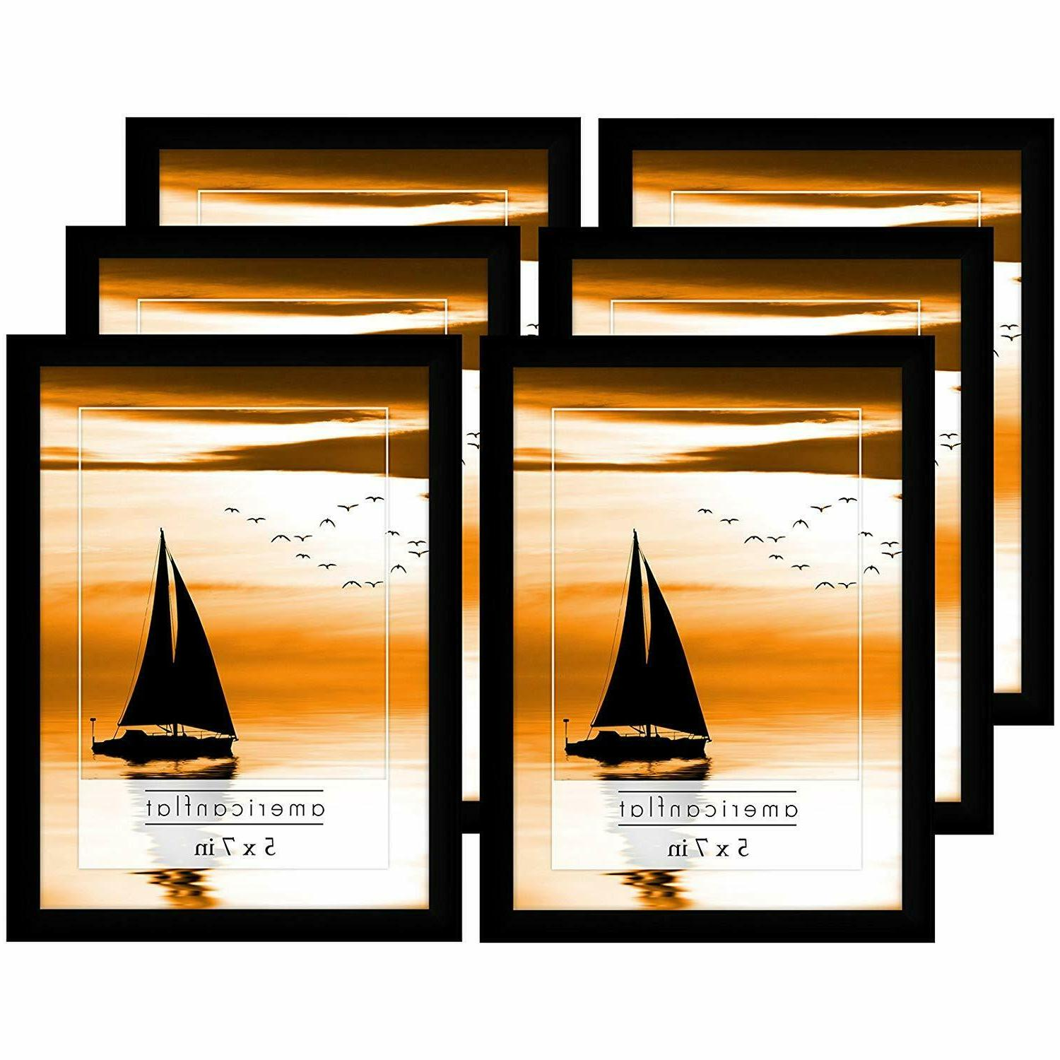 picture frames with glass fronts 6 pack