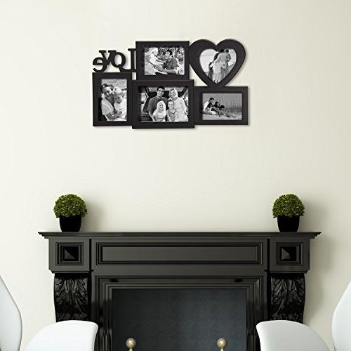 Adeco Decroative Black Love hanging One 5x7 and 4x6