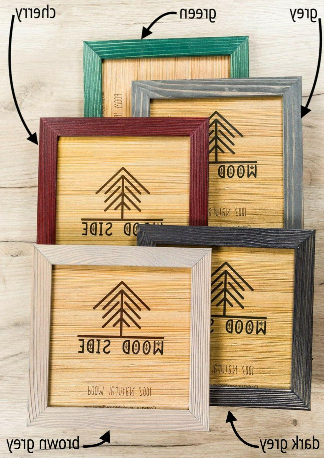 rustic wooden picture frames natural solid distressed