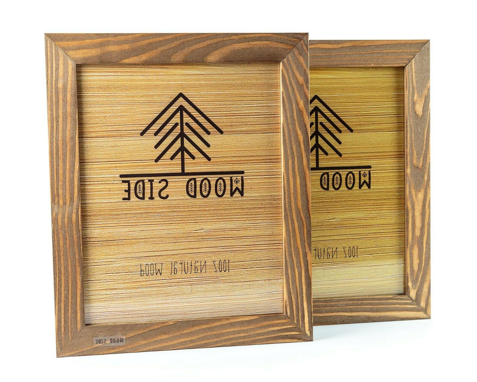rustic wooden picture frames natural solid eco