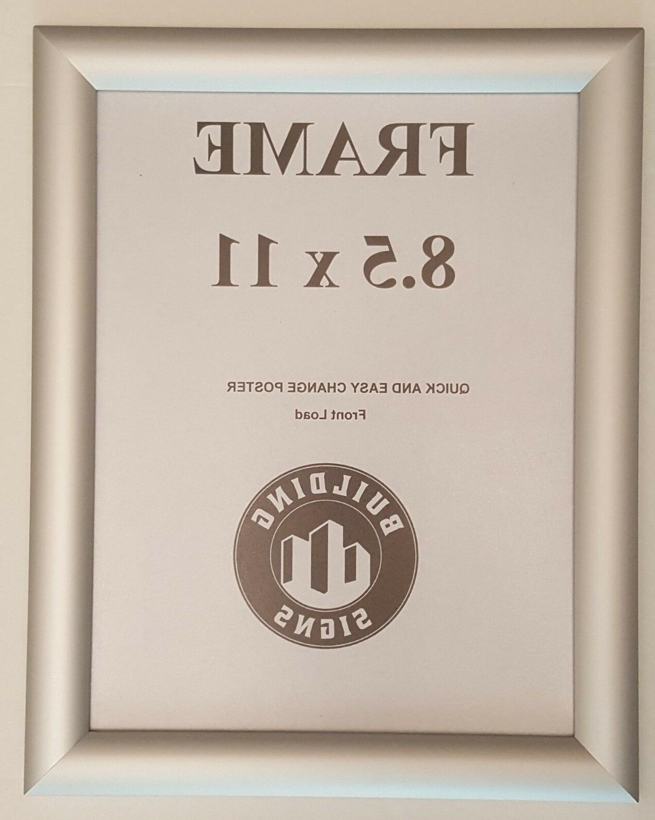 silver snap frame 8 5x11 inches front