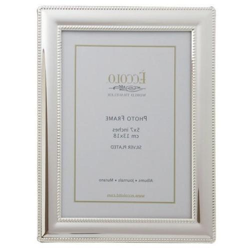 smooth beaded silver plated frame