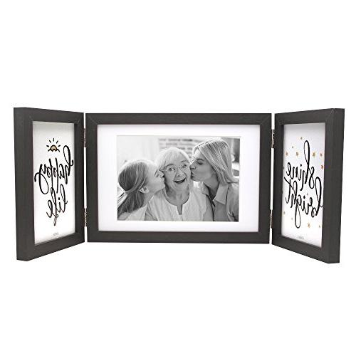three picture frame black modern