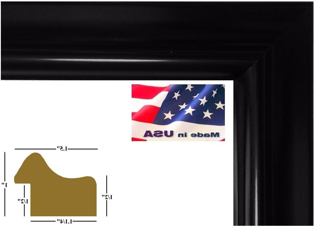 us art frames 1 5 wide black