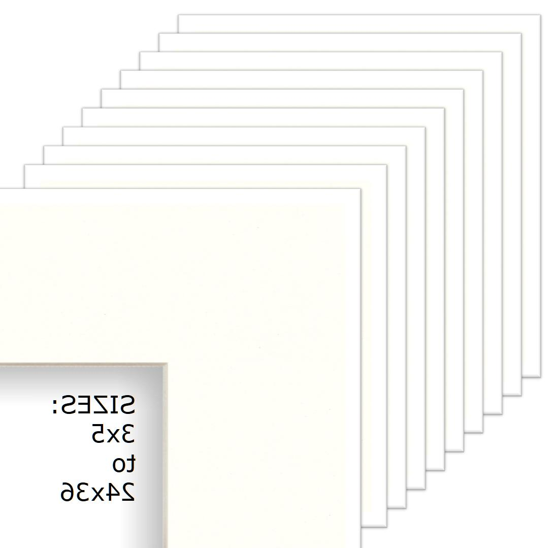 white mats for picture or poster frame