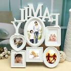 White Plastic Family Photo Frame Wall Hanging Picture Holder