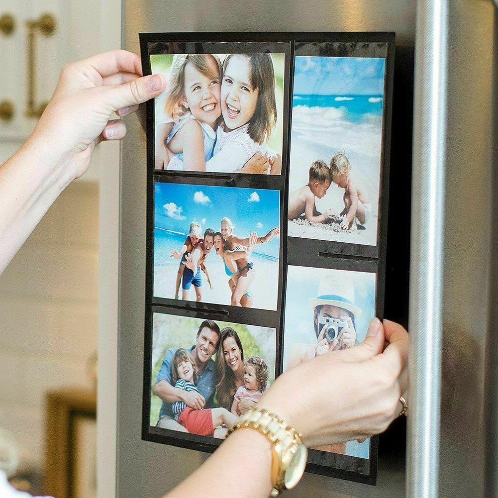 Wind Picture Collage Frame for Refrigerator, 2-Pack,