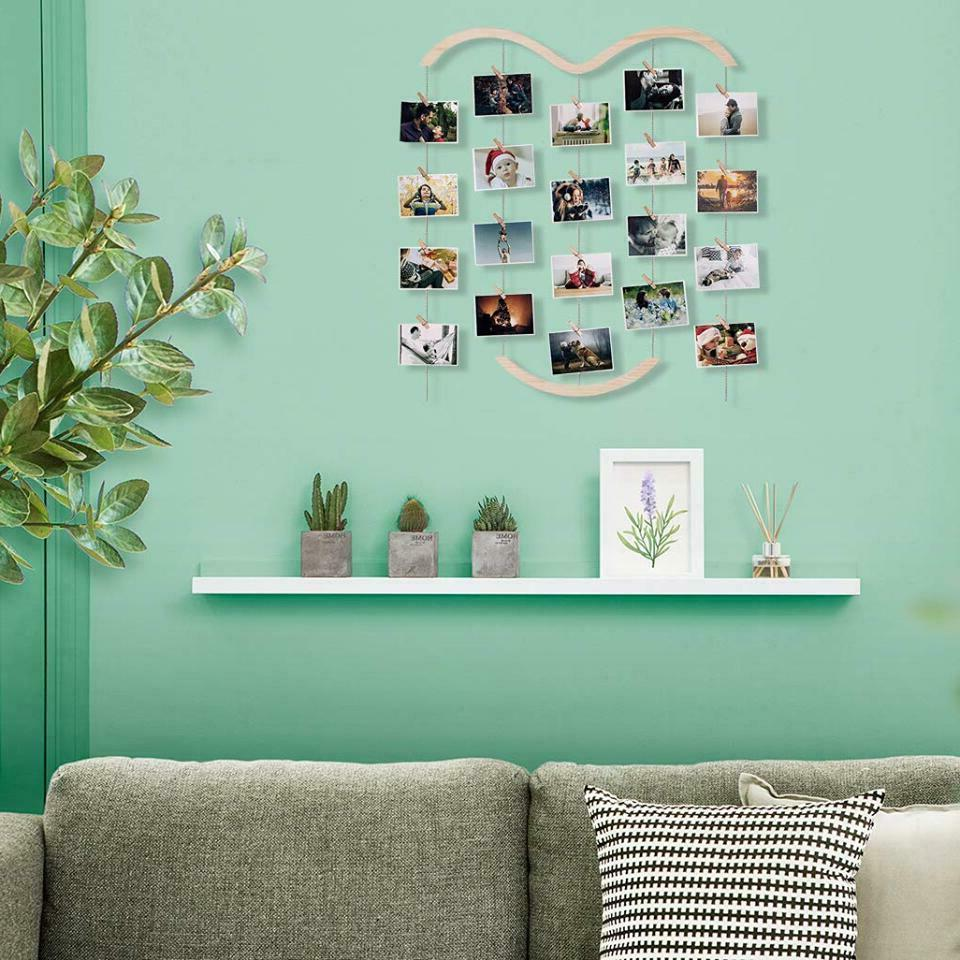 wooden picture photo collage frame wall hanging