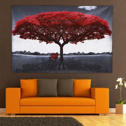 Large Red Tree Canvas Modern Home Wall Decor Art Painting Pi