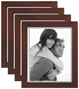Malden 8x10 Picture Frame, Wide Wood Molding, Real Glass, Da