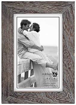 Malden International Designs Linear Rustic Wood Picture Fram