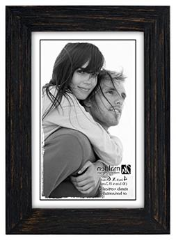 Malden 806-46 Real Glass Wide Wood Molding Picture Frame, Ru