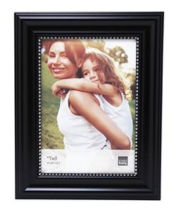 Kiera Grace Lucy Picture Frame, 5 by 7-Inch, Black with Silv