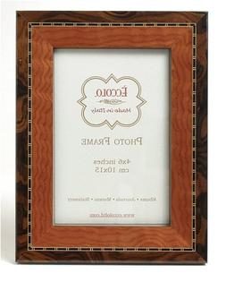 Eccolo Made in Italy Marquetry Wood Frame, Two-Tone Tan and