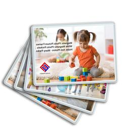 Magnetic Photo Picture Frames - White Magnetic Photo Pockets