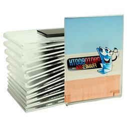 Magnetic Wallet Size Acrylic Picture Frames, Strong Magnet,