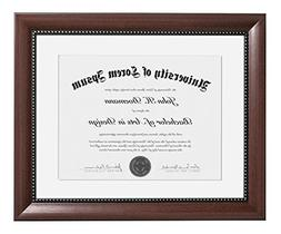 11x14 Mahogany Document Frame - Made to Display Certificates