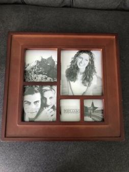 Malden Collage Picture Frame, Displays Five, Cherry