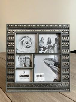 MALDEN Pewter Silver Picture Photo Frame 5 Photo Collage