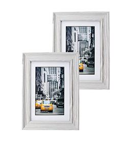 Marble Gray Wood Picture Frame 5x7  Photo Display with Glass