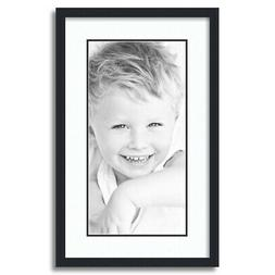 matted 14x24 black picture frame with 2
