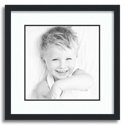 matted 16x16 black picture frame with 2