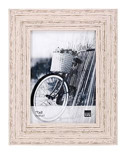 Kiera Grace Maya Picture Frame, 5  by  7 Inch , Weathered Wh