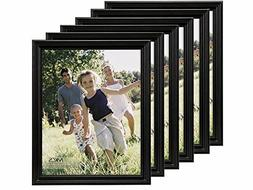 MCS 8-1/2x11 Solid Wood Value Picture Frame Black 6 Pack