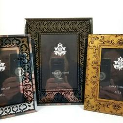 mirrored beveled glass picture frames black silver