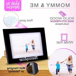 Klikel Mommy and Me Frame - Black Wood Frame with Silver Mom