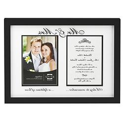 Prinz Mr. and Mrs. Collage Photo Frame, 2/5 by 7-Inch, Black