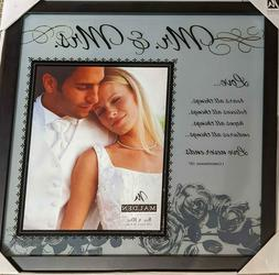 """Malden 8 x 10"""" Mr and Mrs. Frosted Glass Picture Frame"""