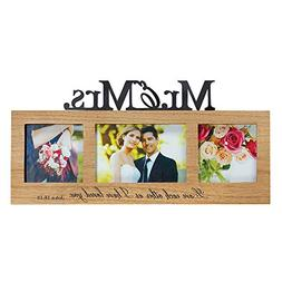 Mr. and Mrs. Love Each Other John 15:12 Wooden 7.5 x 16 Thre