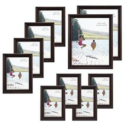 MCS 10pc Multi Pack Picture Frame Value Set - Two 8x10 Inch,
