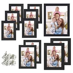 Giftgarden Multi Picture Frame for Multiple Sizes 11pcs, one